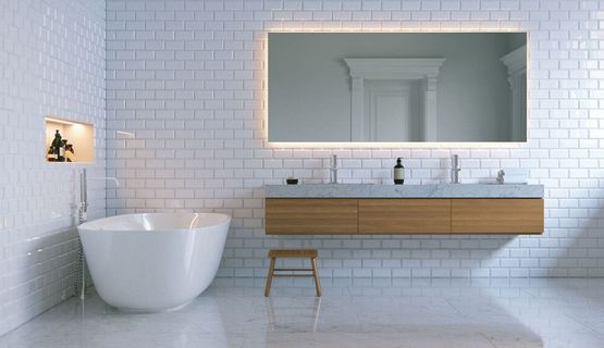 A modern bathroom in a domestic property